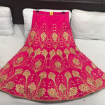 Rani Pink Bollywood Designer Chaniya Choli For Wedding