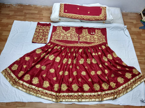Embroidered Banglori  Online Shopping Wedding Lehengas