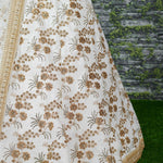 Off White Thai Silk Latest Wedding Ghagra Choli Online Shopping
