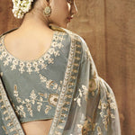 Grey Embroidered Online Shopping Sarees With Price