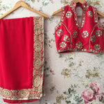 Red Georgette Bollywood Outfits Online Shopping