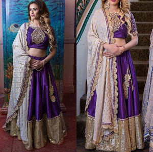 Purple Online Shopping Of Bollywood Lehenga Choli