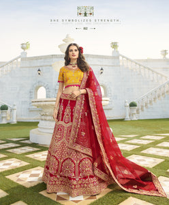 Maroon Art Silk Embroidered New Traditional Wedding Lehenga Choli