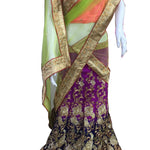 Purple Art Silk Latest Lehenga Choli
