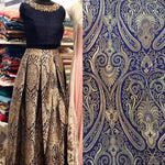 In Style Blue Brocade Indian Designer Lehenga Choli ,Indian Dresses - 1