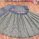 Parineeti Chopra Gray Banglori Silk Lehenga Designs For Party Wear