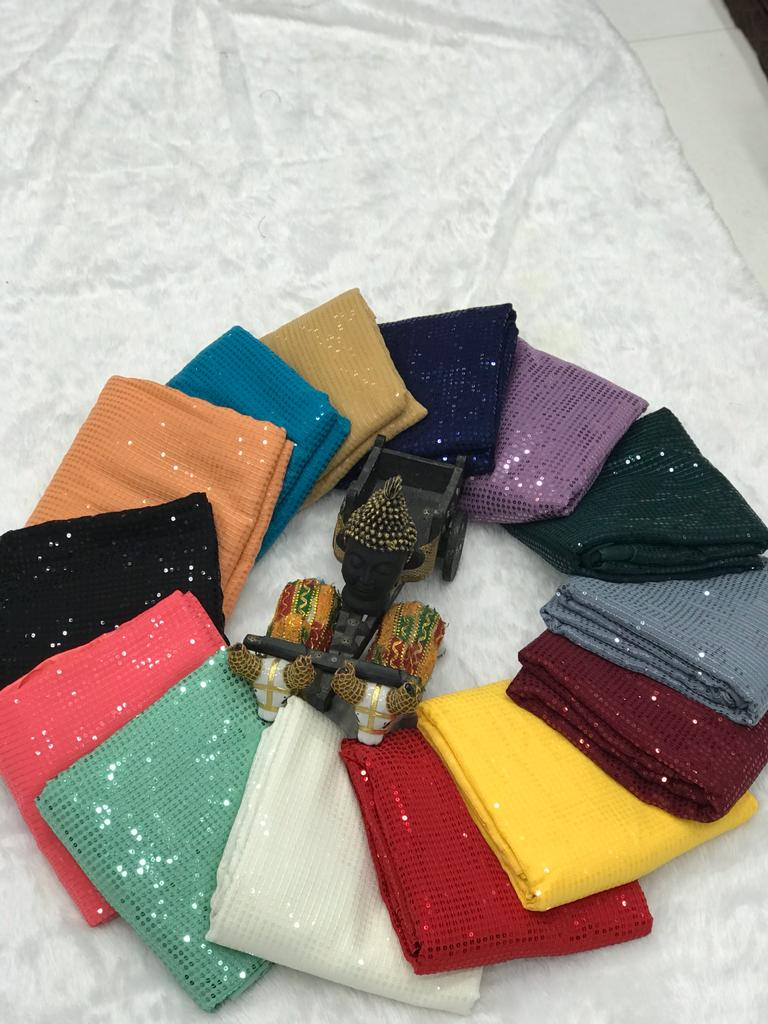 New Sequins 13 color Buy Saree Combos with Plain Silk Blouse