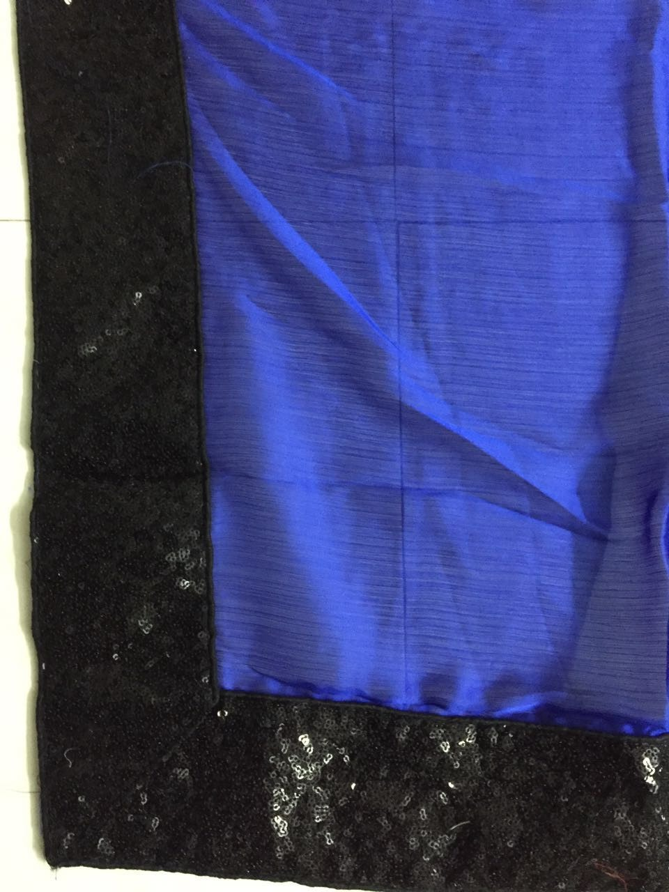 Blue And Black Half And Half Buy Bollywood Saree ,Indian Dresses - 4
