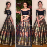 Multi Color Banglori Satin Digital Print Fashionable Indian Lehenga Choli