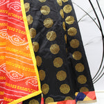Black Jacquard Brocade Bollywood Lehenga Choli With Dupatta