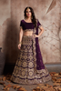 Lovely Wine Color Fancy Design Lehenga Choli Online Shopping