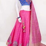 Pink Embroidery Silk Latest Ghagra Choli Designs India Online