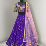 Purple Art Silk Bollywood Designer Lehenga Online Shopping