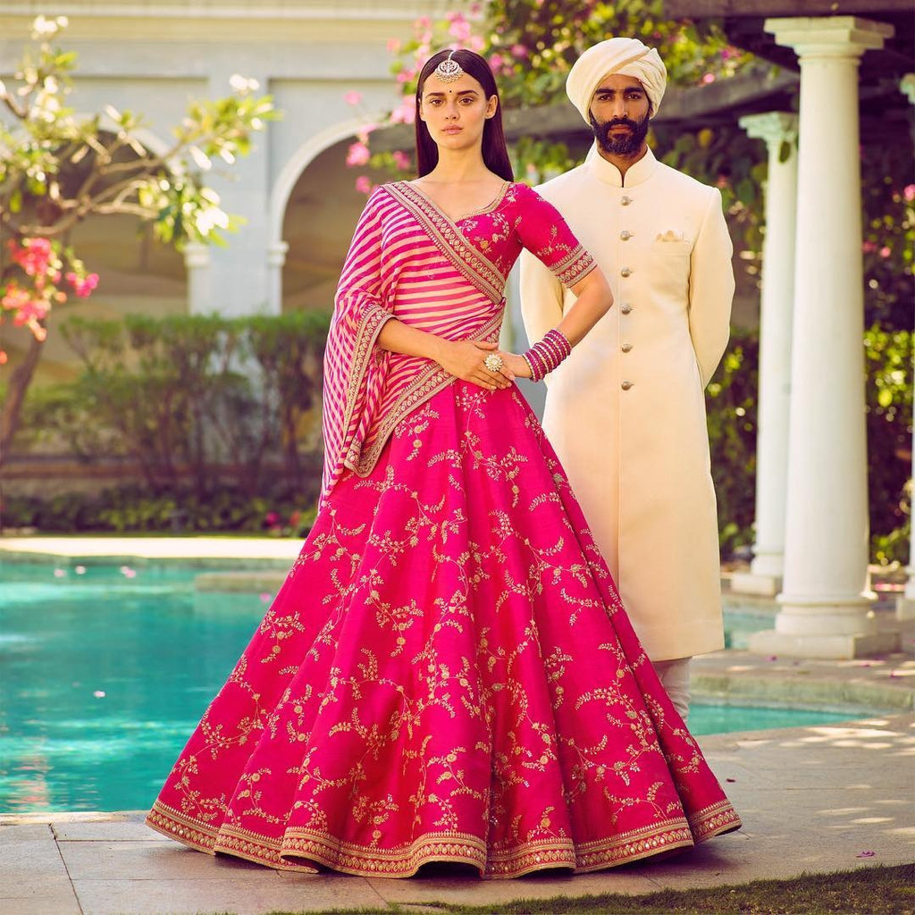Beautiful Pink Phantom Silk Bollwood Lehenga Indian Wedding Dresses
