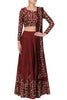 Maroon Zari Embroidered Party Wear Designer Lehengas India Online