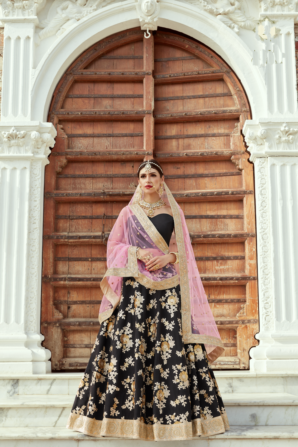 Black Crepe Silk Embroidery Lehenga Choli Party Wear Online Shopping
