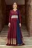 Burgundy Tafetta Silk Floor Length Gown Indian Fashion Online