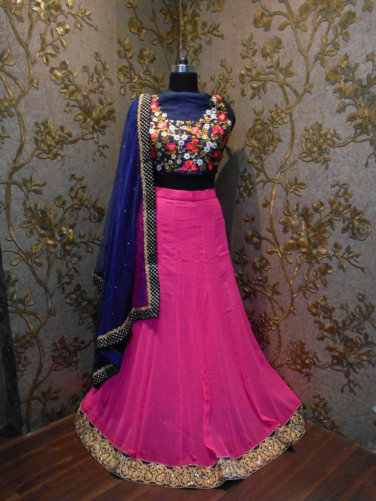 Pink Georgette Bollywood Lehenga For Sale ,Indian Dresses - 5