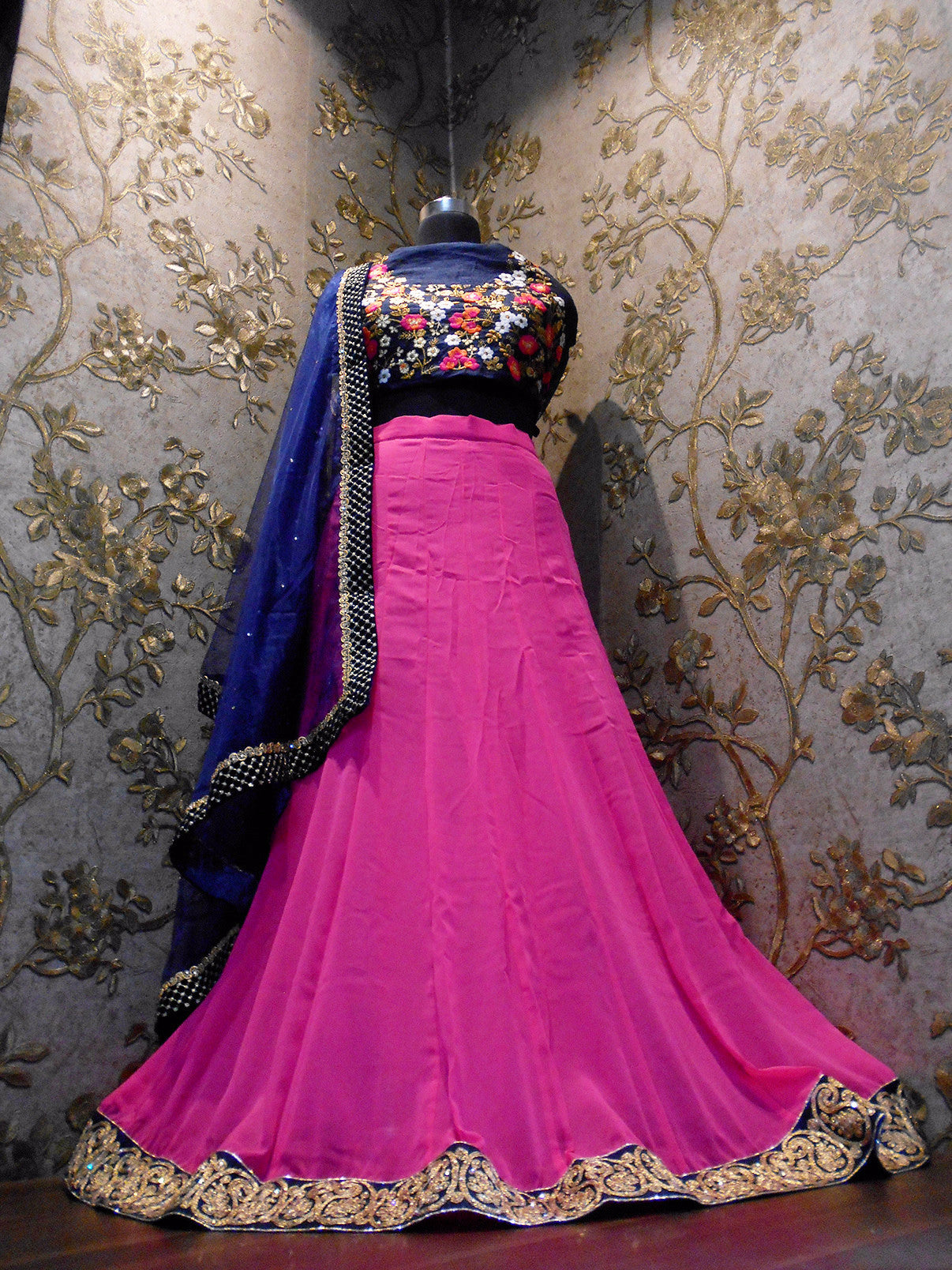 Pink Georgette Bollywood Lehenga For Sale ,Indian Dresses - 3