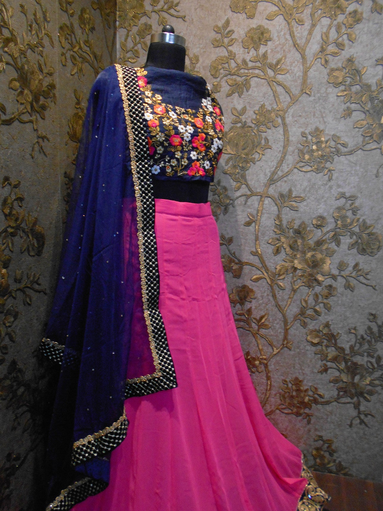 Pink Georgette Bollywood Lehenga For Sale ,Indian Dresses - 4