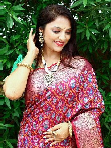 Dark Pink  Silk Embroidery Anarkali Latest Indian Salwar Suits