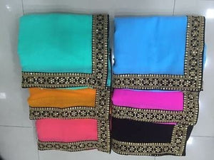 Black Georgette Bollywood Latest Sarees ,Indian Dresses - 2
