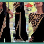 Black Georgette Bollywood Latest Sarees ,Indian Dresses - 1