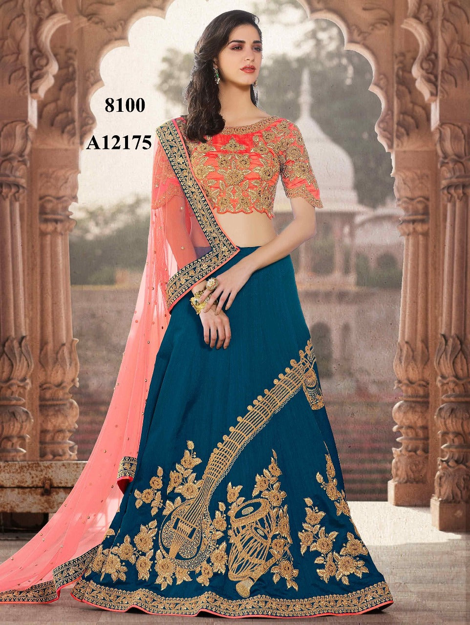 Blue Silk Embroidered Lehenga Choli Designs Shop Online