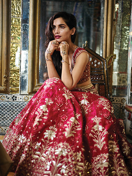 Red Heavy Embroidered Bollywood Lehengas Collection ,Indian Dresses - 1