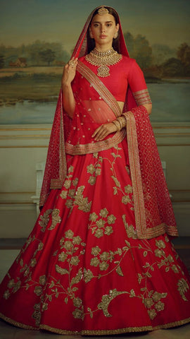 Red Lehenga Suits Online Ghagra Choli Shopping In India