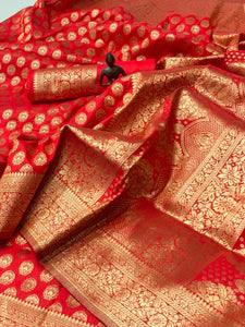 Red Banarasi Silk Minakari Weaving Online Shopping Sarees Dress