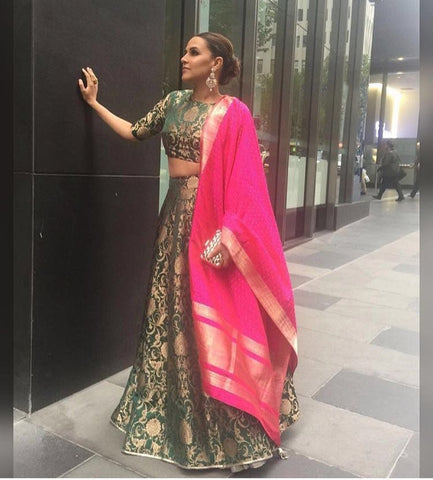 Neha Dhupia Fashion Lehenga Choli ,Indian Dresses - 1