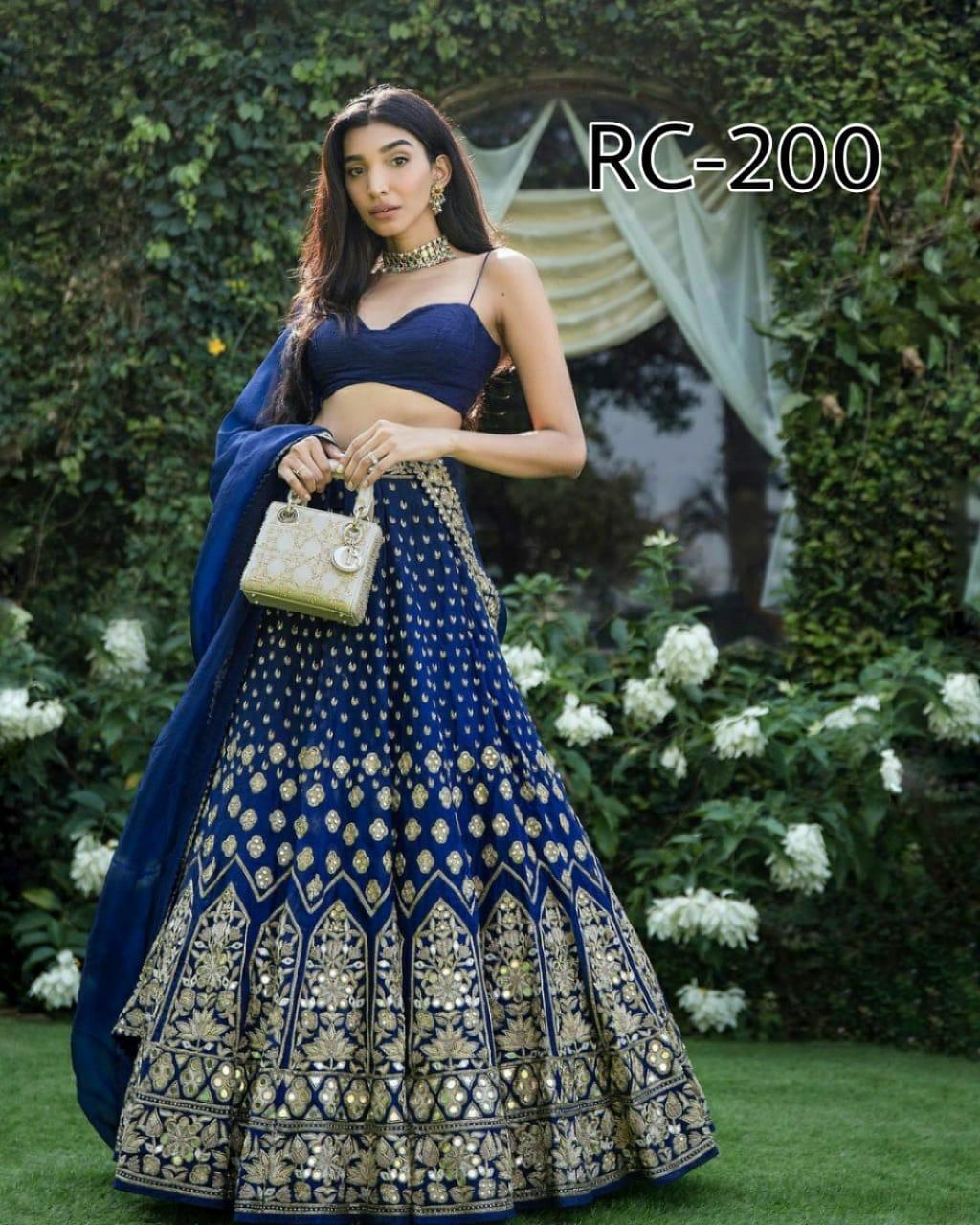 Blue Taffeta Silk Fancy Lehenga Choli Online