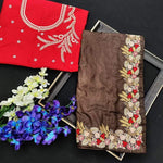 Buy two Heavy Embroidery And Zari Work Sarees combo sets
