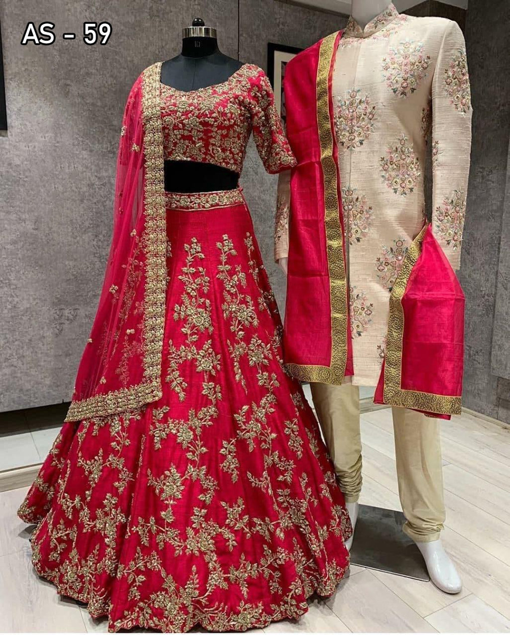 Red Taffeta Silk Fancy Lehenga Choli With Embroidery Work Online