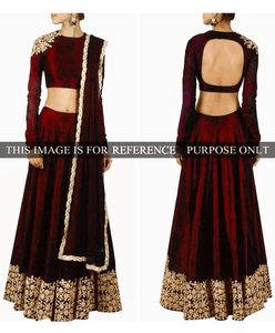 Elegant Maroon Banglori Bollywood New Indian Lehenga Designs ,Indian Dresses - 10