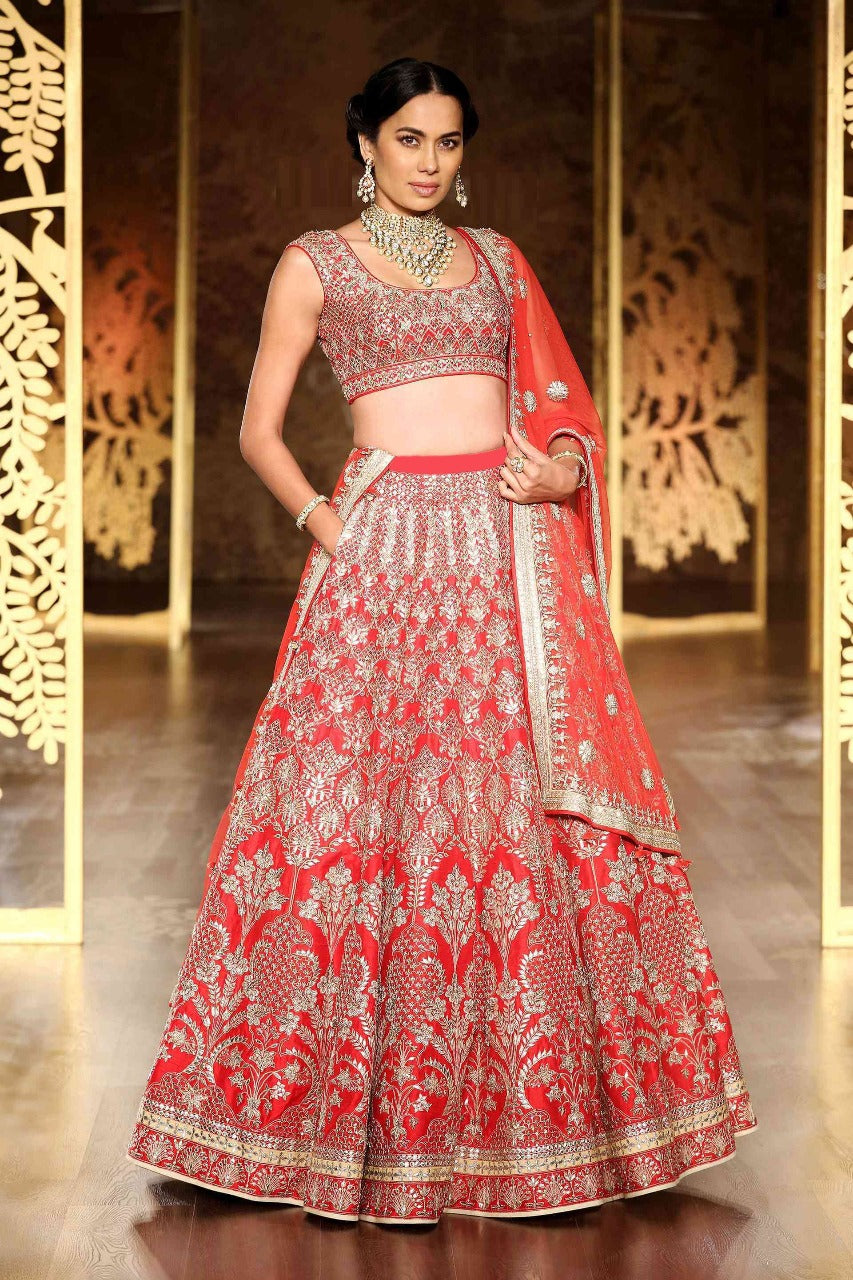 Red Embroidery Indian Wedding Dresses Online Shopping India