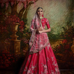 Lovely Pink Mulberry Silk Latest New Collection Of Lehenga