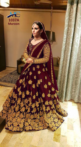 Maroon Kerala  Silk Latest Wedding Lehenga Choli For Brides Sister