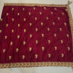 Maroon French Crepe Embroidered Beautiful Indian Bridal Wear Lehengas