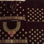 Maroon Velvet Embroidered Bridal Ghagra Choli Collection Online Shop