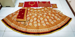 Embroidered Red Kerela Silk Wedding Lehenga And Choli Designs
