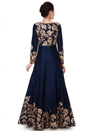 Navy Blue Online Shopping Of Wedding  Gown Indian Dresses