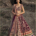Wine Color Satin Party Wear Lengha Choli Online Shopping