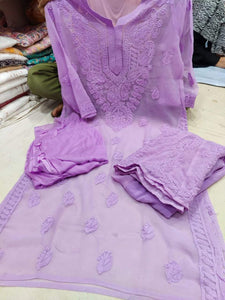 Purple Dyable Full Suit Design with Sharara & Dupatta Online