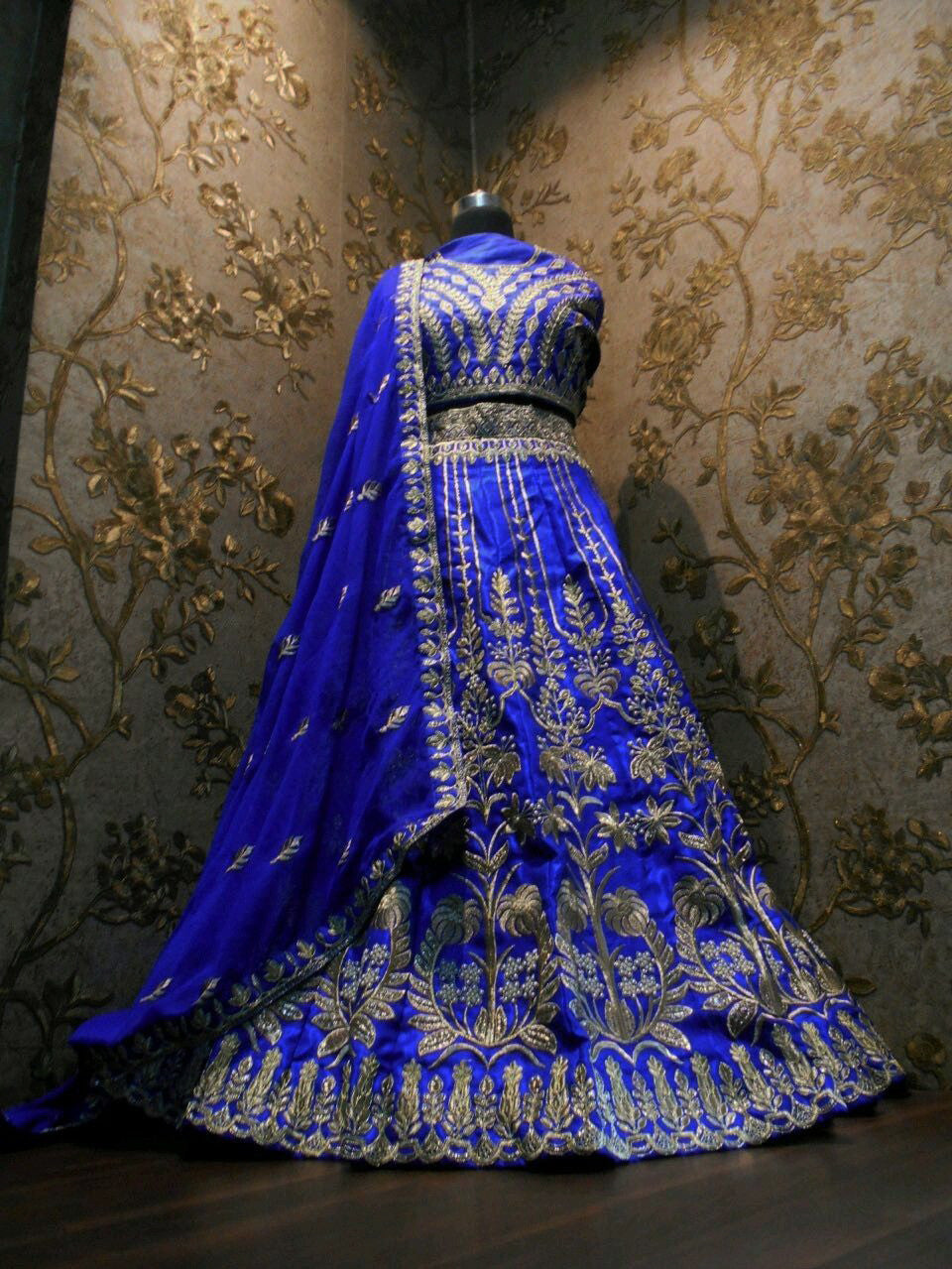 Appealing Royal Blue Indian Dress Lehenga Choli ,Indian Dresses - 2