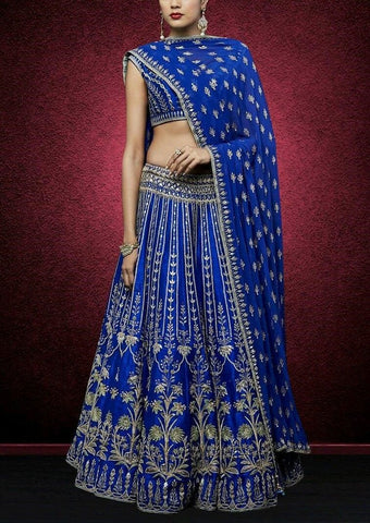 Appealing Royal Blue Indian Dress Lehenga Choli ,Indian Dresses - 1