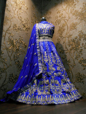 Appealing Royal Blue Indian Dress Lehenga Choli ,Indian Dresses - 3
