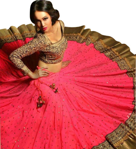 Charming Pink Bollywood Designer Wedding Lehenga ,Indian Dresses - 1