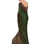 Moss Green Deepika Padukone Designer Sarees Bollywood ,Indian Dresses - 2